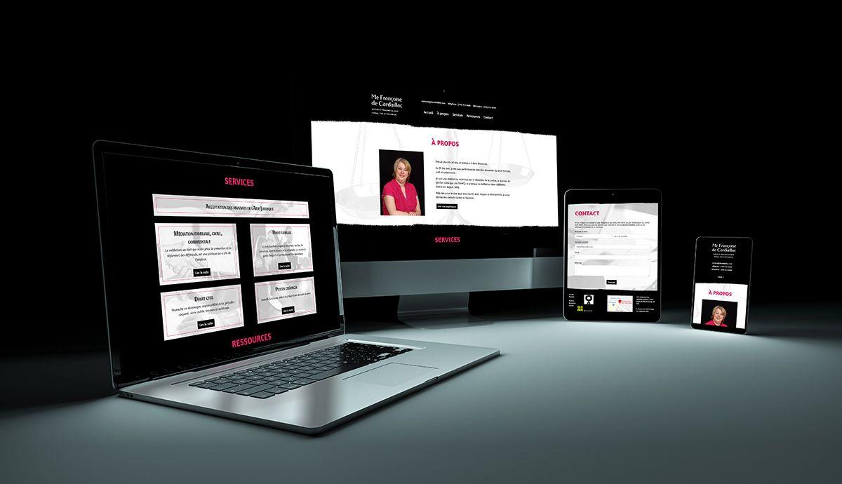 Site à une page pour professionnel