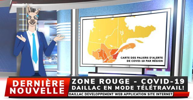 Zone rouge, Daillac en mode télétravail!